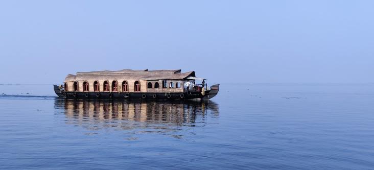 Vembanad Lake, Kumarakom Kerala Jan 2020